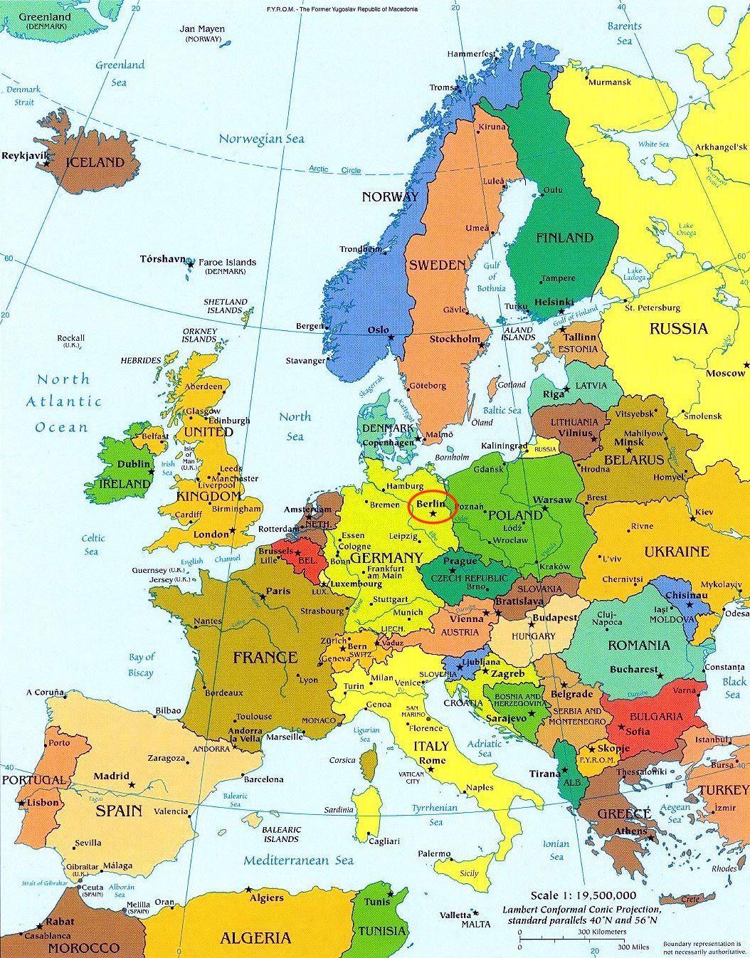 Germania Dell Est E Dell Ovest Cartina