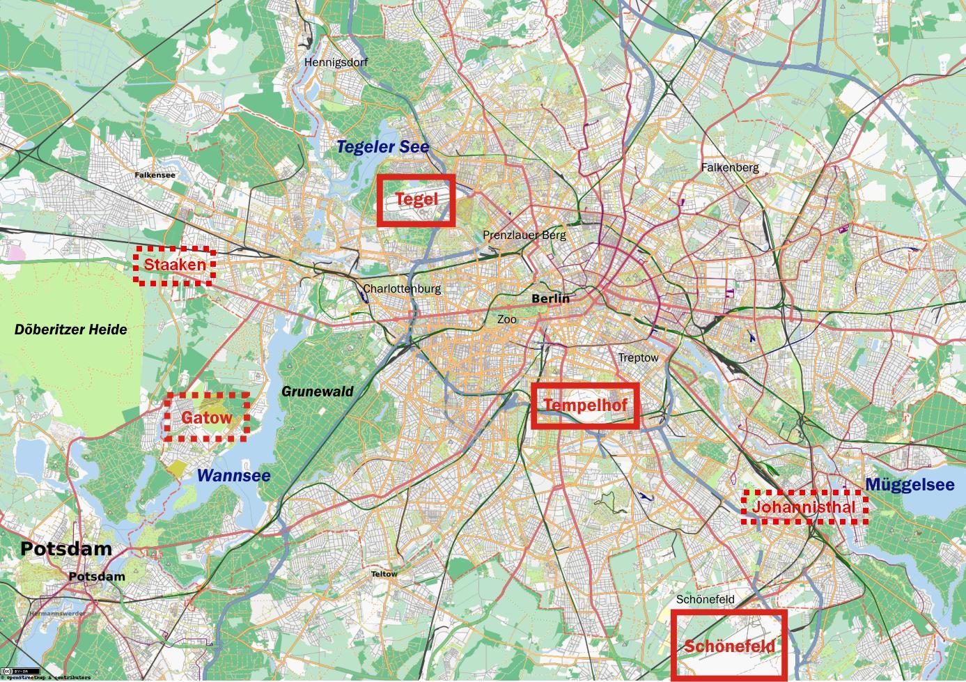 Aeroporti In Germania Cartina.Mappa Di Berlino Risultati Aeroporti Mappa Degli Aeroporti Di Berlino Germania